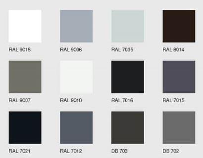 RAL Farbe Alu Rollladen