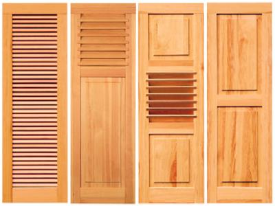 Klappladen Holz Sonnenschutz